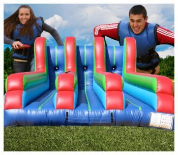 3 Lane Bungee Run Competitive Party Rental