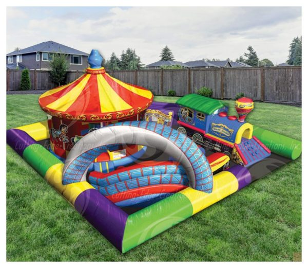 Amusement Park Kiddie City Inflatable