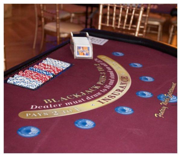 Black Jack Casino Table Rental