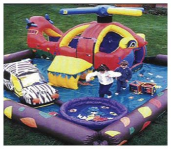 Chopperville Kiddie City Inflatable