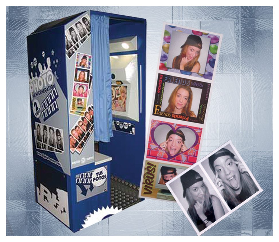Photo Booth, Blue Rental - Fantasy World Entertainment - MD