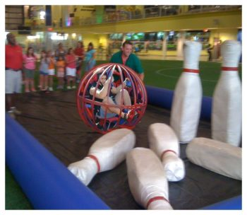Human Bowling Party Rental