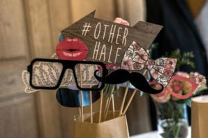 Retro Party set Glasses, hats, lips, mustaches, masks for design photo booth party wedding funny pictures