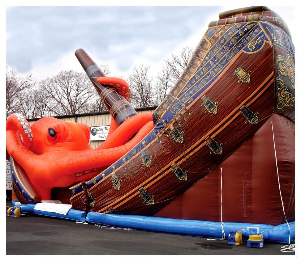 Inflatable Kraken Slide: Fantasy World Entertainment