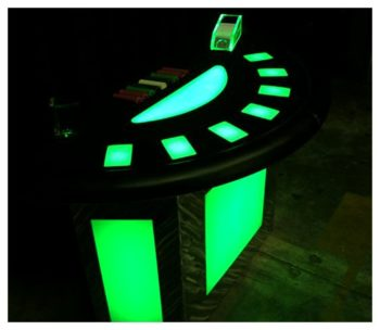 LED Black Jack Table Rentals