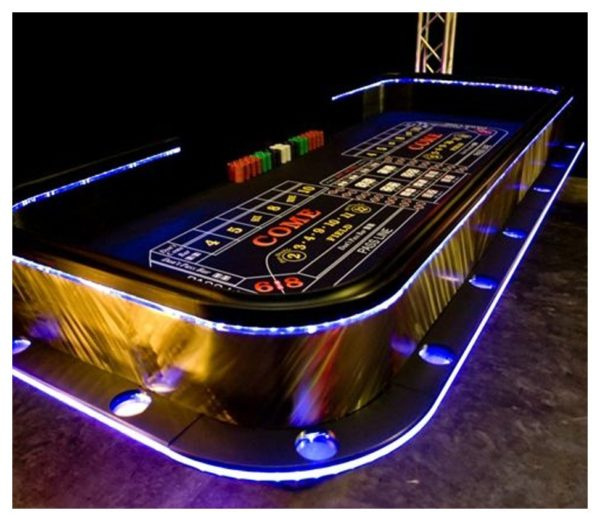 LED Craps Tables Rentals