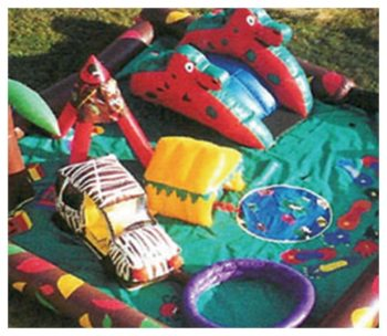 Safari Land Kiddie City Inflatable