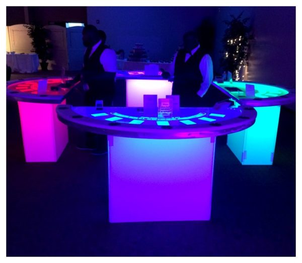 LED Black Jack Table Rental