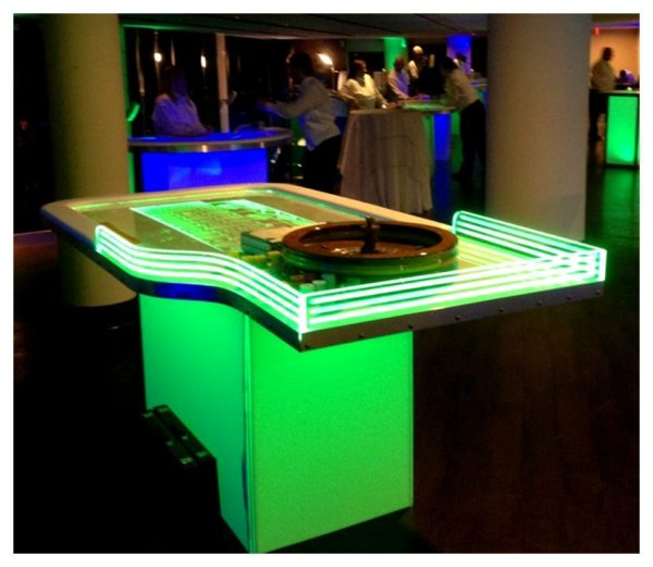 LED Roulette Table Rentals