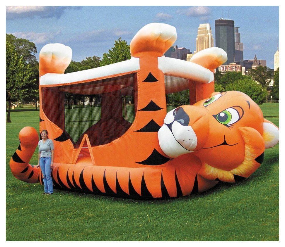 56a0479e32001 Tiger Belly Bouncer Rental - Fantasy World Entertainment - MD