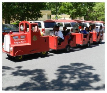 Trackless Train Carnival Ride Rental