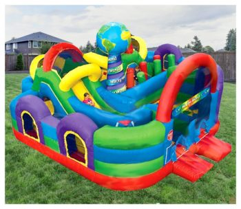Wacky World Kiddie City Inflatable