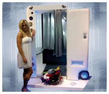 White Photo Booth Rental
