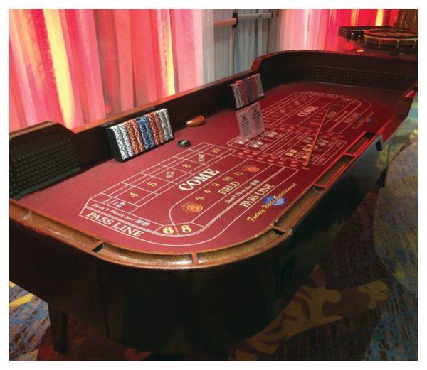 Craps Casino Table Rental at Fantasy World